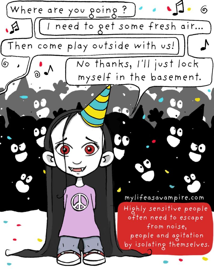 Zabeth is at a very noisy birthday party and explains that she needs some time alone